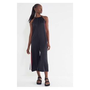 UO Karina Side Stripe Wide Leg Jumpsuit